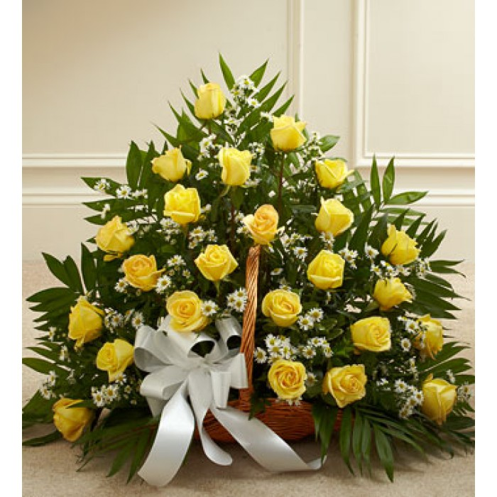 Yellow Flower Basket Send To Philippines
