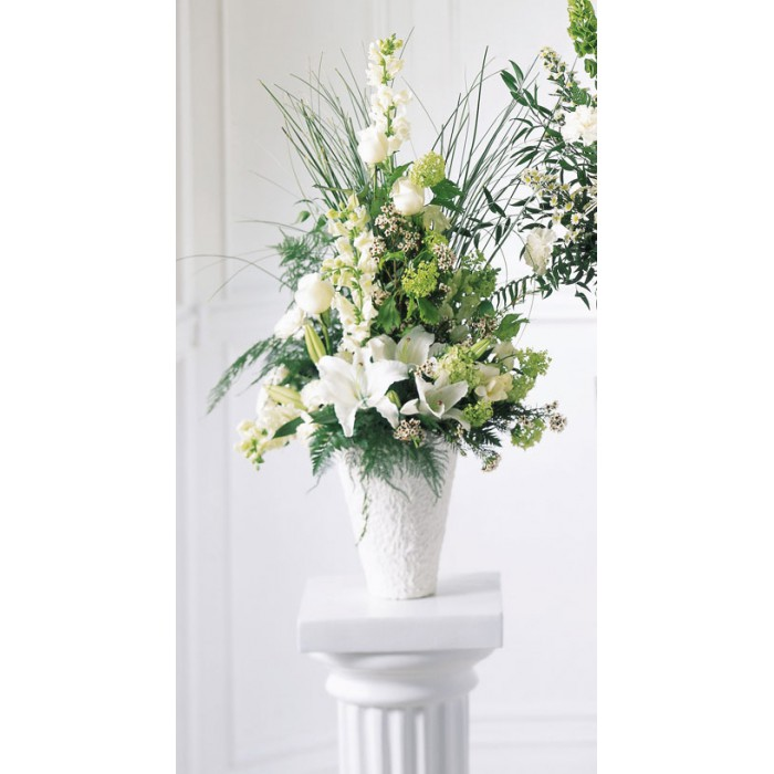 Traditional sympathy white flowers send to philippines mightylinksfo