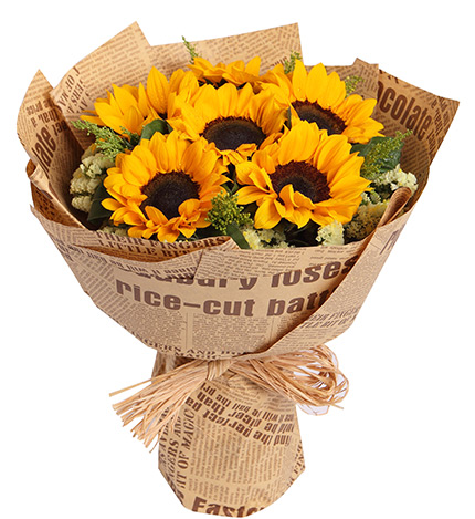 6 Pieces Sunflowers In Bouquet To Philippines