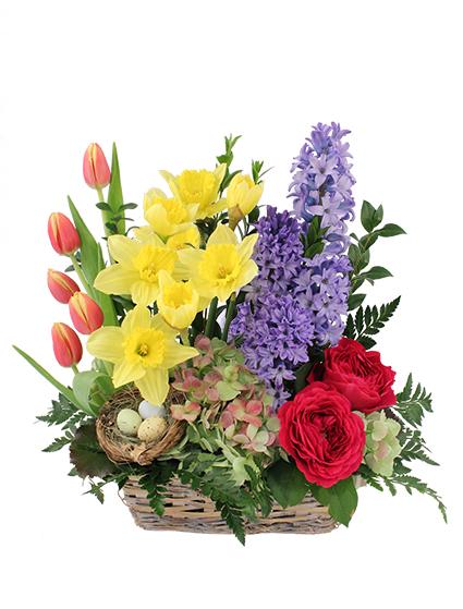 Blissful garden flower basket to philippines mightylinksfo