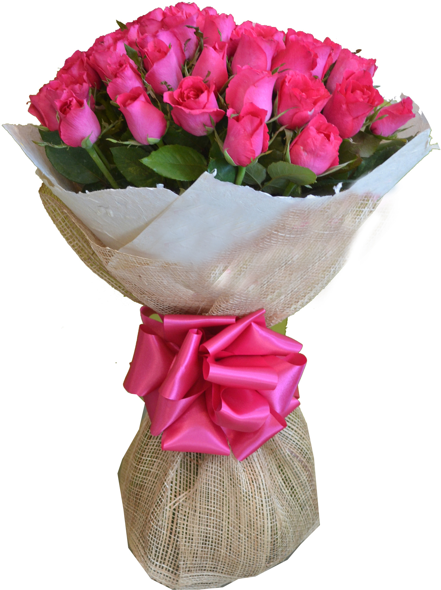 Send 24 Pink Roses in Bouquet to Philippines | Delivery 24 Pink ...