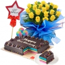 cake eith flowers birthday combo to philippines
