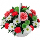 flowers in basket to philippines