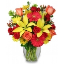 mix flowers in vase to philippines