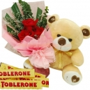 rose bear chocolates online to philippines