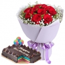 buy birthday flowers with cake to philippines