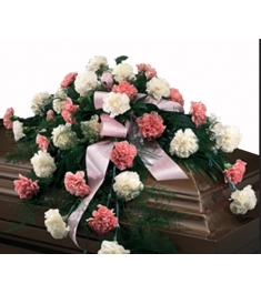 Cascading Pinks and Whites Casket Spray  Send to Philippines