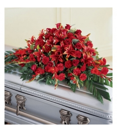 Red Splendor Casket Spray  Send to Philippines