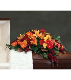 Autumn Flowers Casket Spray  Send to Philippines