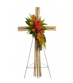Exotic Bamboo Cross Standing Spray  Send to Philippines