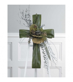 Funeral Green Cross Easel  Send to Philippines