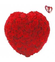 48 Red Roses heart shape Arrangement