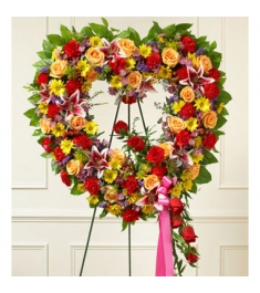 Ravishing Heart Wreath  Send to Philippines