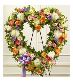 Softly Colored Heart Wreath  Send to Philippines