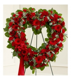 Reds Heart Wreath  Send to Philippines