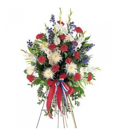 Carnations,Dark Blue Delphinium and White Gladioli   Send to Philippines