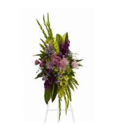 Artistic Green and Purple Standing Spray   Send to Philippines