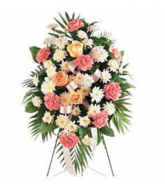 Pink,White,Cream, and Green Flowers  Send to Philippines