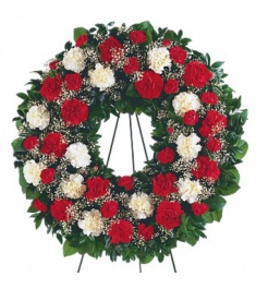 Beautiful Red,Green and White Wreath  Send to Philippines