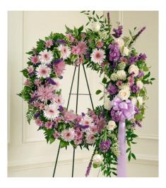 Luxurious Purple Wreath  Send to Philippines