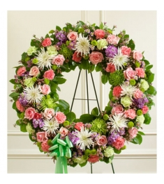 Picturesque Greens Wreath  Send to Philippines
