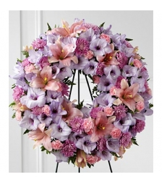 Shades of Lavender Wreath  Send to Philippines