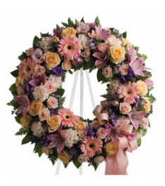 Soft Delicate Shades Wreath  Send to Philippines