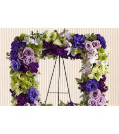 Square Tribute Wreath Arrangement  Send to Philippines