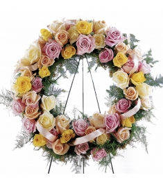 Vibrant Sympathy Wreath  Send to Philippines