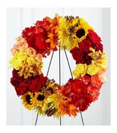 Blazing Blooms Wreath  Send to Philippines