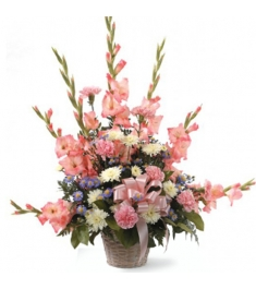 Pretty Pink Tribute Arrangement  Send to Philippines