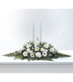 Peaceful White Centre Piece  Send to Philippines