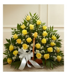 Yellow Flower Basket  Send to Philippines