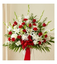 Red and White Perfection Basket  Send to Philippines