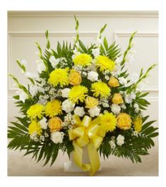 Blazing Basket of Yellow  Send to Philippines