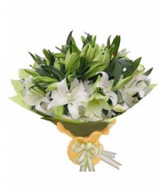 12 White lilies