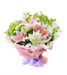 White & Pink lilies to philippines
