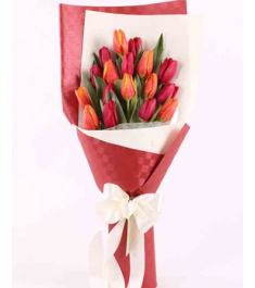 15 red & orange tulips buy in philippines