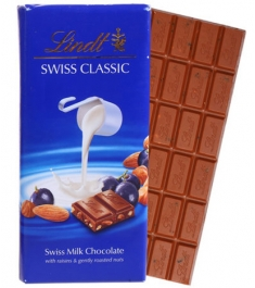 Send Lindt Swiss Classic with Milk Hazelnut(100g) to Philippines
