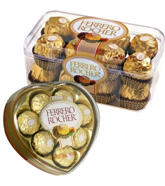 Ferrero Rocher Heart Shape & 16 pcs Box
