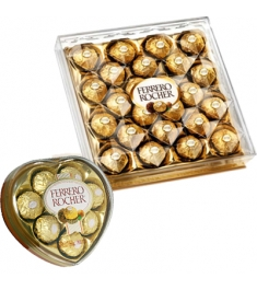 Ferrero Rocher Heart Shape & 24 pcs Box