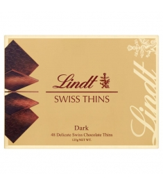 Send Lindt Swiss Thins Dark Chocolate (125g) to Philippines