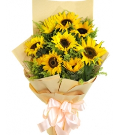 9 piece sunflowers bouquet