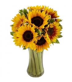 sunflowers vase to philippines