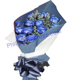 Send 12 Blue Roses Bouquet  to Philippines