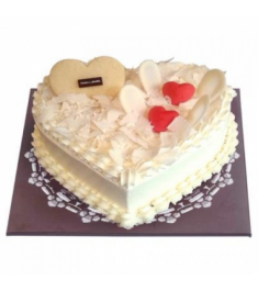 Send White Heart Cake By Tous les Jours to Philippines