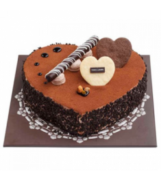 Send Chocolate Crunch Heart Cake By Tous les Jours to Philippines