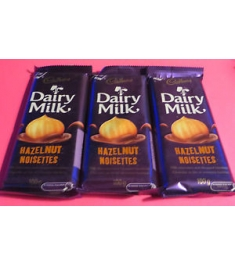 Cadbury Dairy Milk Hazel Nut 3 Bars 45g Online Order to Philippines