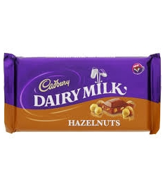 Cadbury Hazel Nut Chocolate Bar 1pc Online Order to Philippines