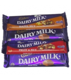 Cadbury Dairy Milk 4 Varieties 40g Online Order to Philippines